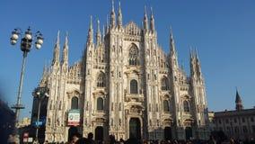 Duomo of Milan. Beautiful church of Milan Royalty Free Stock Photo