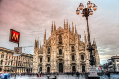 Duomo Milan Cathedral, Italien Stockfotografie