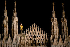 Duomo of Milan - cathedral square Stock Images