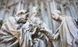 Duomo of Milan. Detail Royalty Free Stock Photos