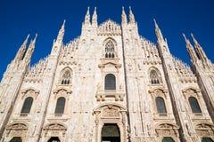 Duomo of Milan front face Stock Photos