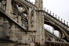 Duomo of Milan. Gothic architecture of the duomo of Milan - Italy stock photo