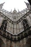 Duomo of Milan. Gothic architecture of the duomo of Milan - Italy royalty free stock image