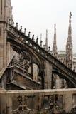 Duomo of Milan. Gothic architecture of the duomo of Milan - Italy royalty free stock photos