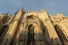 Duomo of Milan. Gothic architecture of the duomo of Milan - Italy royalty free stock photo
