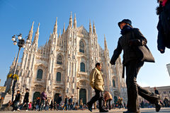 Duomo in Milan, Italy. stock images