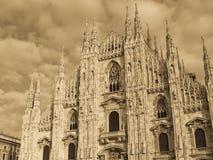 Duomo, Milan - monochrome Royalty Free Stock Image