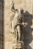 Duomo of Milan, statues Stock Photo