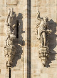 Duomo of Milan, statues Royalty Free Stock Photos