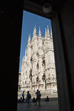 Duomo of Milano. Foreshortening of the Duomo of Milan Stock Images