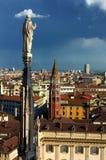 Duomo Milano i Italien arkivbild