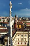 Duomo Milano in Italy. View from Duomo Milano in Italy royalty free stock photos