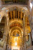 Duomo Monreale. The Cathedral of Santa Maria Nuova in Monreale is the cathedral of the Archdiocese of Monreale in Sicily. It bears the title of a papal basilica stock image