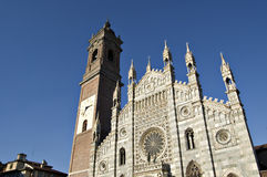 Duomo of Monza. Facade in a sunny late afternoon Royalty Free Stock Image