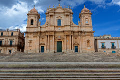 Duomo, Noto, Sicily, Italy blue sky Stock Images