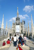 Duomo Ornaments. The top of the Duomo cathedral in Milan, Italy Royalty Free Stock Photos