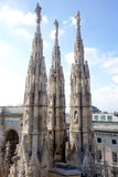 Duomo Ornaments. A view from the Duomo cathedral in Milan, Italy Stock Image
