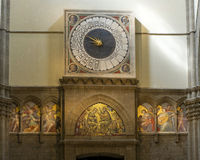 Duomo Orologio - 24 godzina zegaru Fotografia Royalty Free