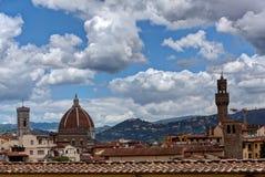 Duomo Palazzo Vecchio Florencja Firenze Tuscany Włochy obraz stock