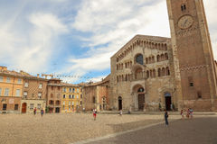 Duomo of Parma stock photography
