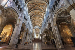 Duomo of Parma, interior Stock Images