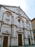 The duomo of Pienza in Tuscany Stock Images