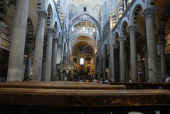 Duomo, Pisa, Italy. Interior of Duomo in Pisa, Italy. The heart of the Campo dei Miracoli is the Duomo, the medieval cathedral entitled to St. Mary stock image
