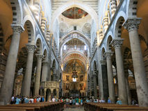 Interior cathedral of Pisa Stock Photos