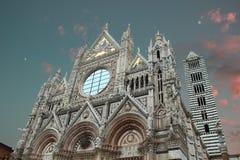 Duomo przy zmierzchem Obraz Stock