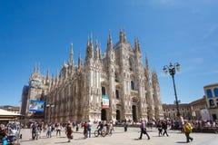 Duomo, punkt zwrotny Mediolan Zdjęcia Royalty Free