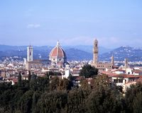 Duomo and rooftops, Florence. Royalty Free Stock Images