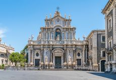 Duomo of Saint Agatha in Catania, Sicily, southern Italy. stock photo