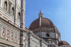 Duomo Santa Maria Del Fiore and Campanile. Dome of Santa Maria cathedral Stock Photos