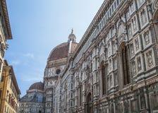 Duomo Santa Maria Del Fiore and Campanile. Dome of Santa Maria cathedral Royalty Free Stock Image