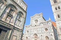 Duomo Santa Maria Del Fiore and Campanile. Florence, Italy stock photos