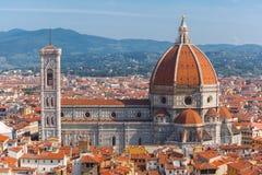 Duomo Santa Maria Del Fiore in Florence, Italië stock foto's