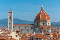 Duomo Santa Maria Del Fiore in Florence, Italië stock afbeeldingen