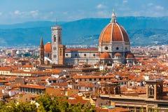 Duomo Santa Maria Del Fiore in Florence, Italië stock foto