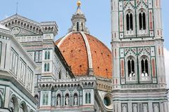 Duomo Santa Maria Del Fiore i Florence, Tuscany, Italien Arkivfoto