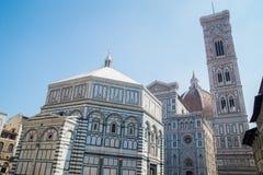 Duomo Santa Maria Del Fiore i Piazzale Michelangelo i Florence, Tuscany, Italien Fotografering för Bildbyråer