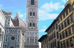 Duomo Santa Maria Del Fiore i Piazzale Michelangelo i Florence, Tuscany, Italien Royaltyfria Foton