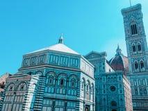 Duomo Santa Maria Del Fiore i Piazzale Michelangelo i Florence, Tuscany, Italien Arkivbild