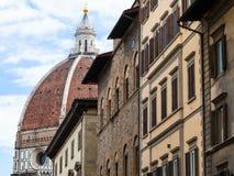 Duomo Santa Maria del Fiore and urban houses Royalty Free Stock Photography