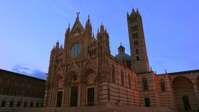 Duomo in Siena, Italy stock video