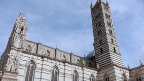 Duomo in Siena, Italy stock video footage
