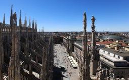 Duomo square, aerial view royalty free stock photo