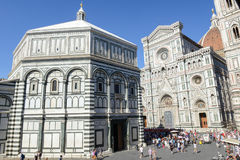 Duomo square with the cathedral of Florence on Italy. Stock Images