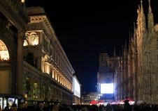 Duomo Square during Christmas, Milano Stock Photos