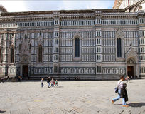 Duomo and the square in Florence. Stock Photo