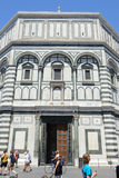 Duomo square in front of the baptistery at Florence, Italy. Stock Photos